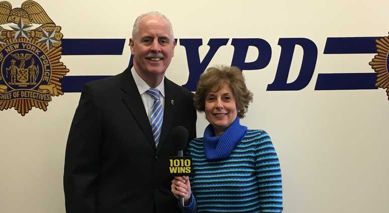 Retiring NYPD Chief Of Detectives Bob Boyce With 1010 WINS' Juliet Papa.