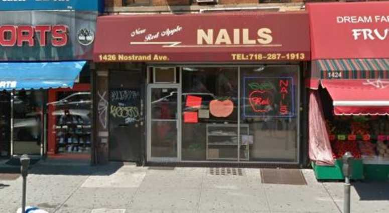 New Red Apple nail salon in Brooklyn.