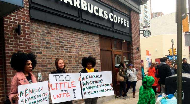 Philadelphia Starbucks Protest