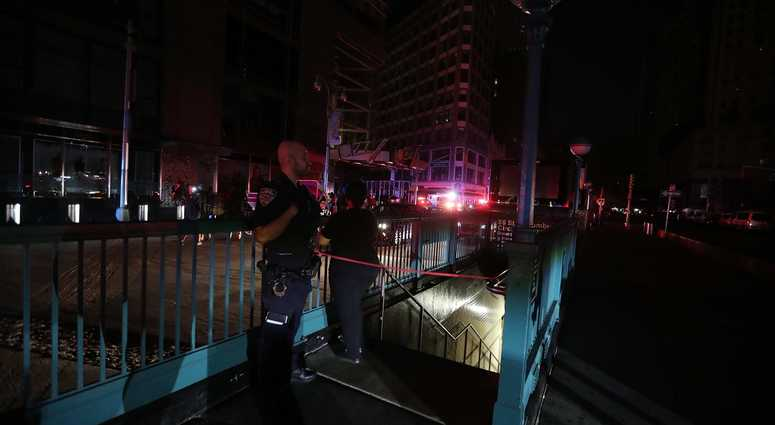 NYC blackout AP