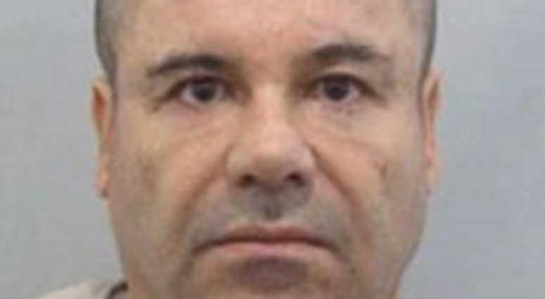 Mugshots showing Mexican drug trafficker Joaquin Guzman Loera aka El Chapo.