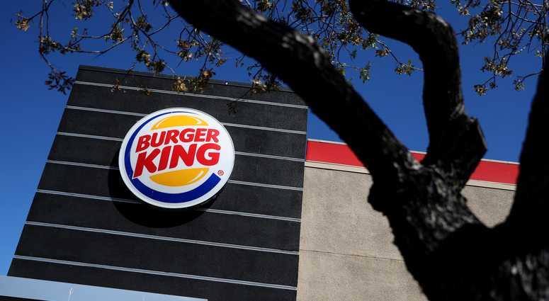 A sign outside a Burger King restaurant