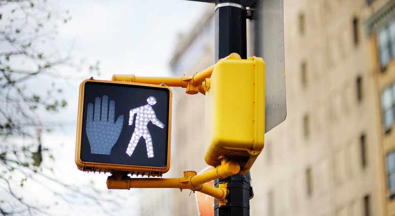 New York street crossing