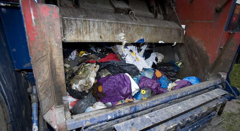 Garbage truck file image.