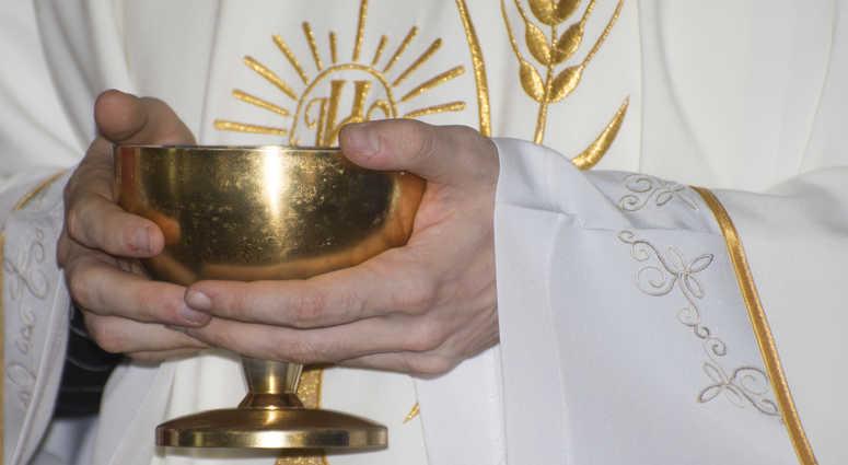Catholic Mass - holly sacrifice of blood and body of Jesus Christ