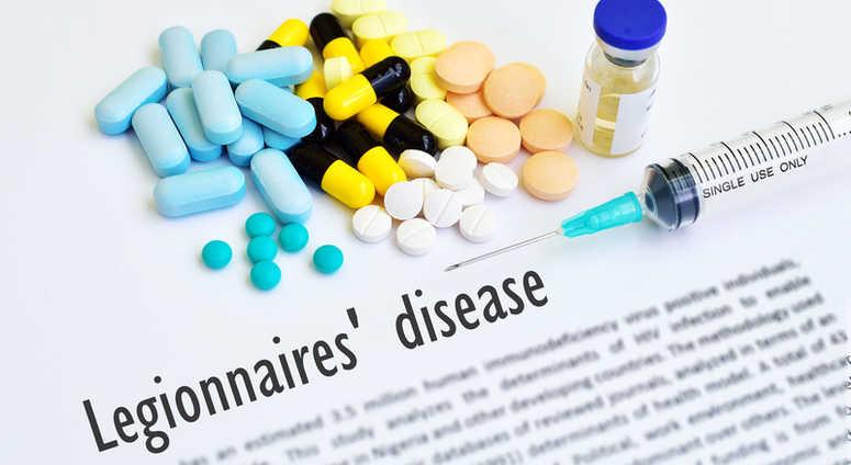Drugs and syringe for Legionnaires' disease.