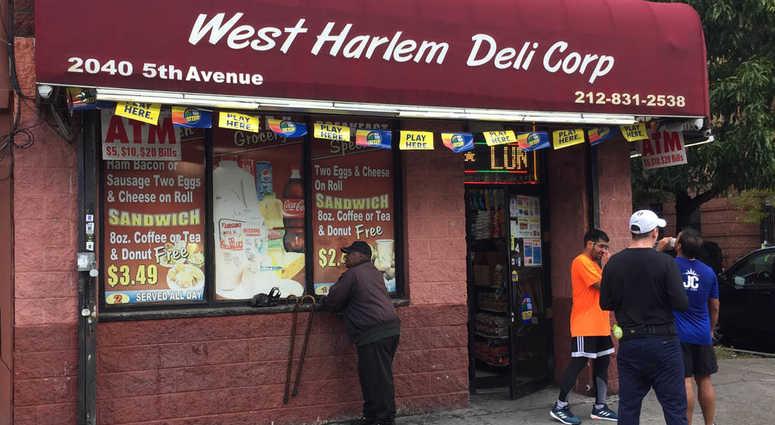 West Harlem Deli lotto ticket