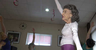 100-year-old yoga instructor
