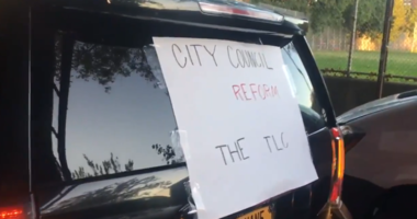 Uber and Lyft drivers protest changes in the apps