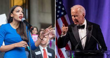 Joe Biden and Alexandria Ocasio-Cortez
