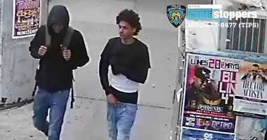 Cops are looking for two guys who opened fire on a playground in the Bronx.