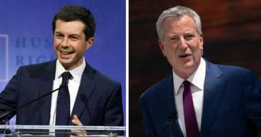 A tale of 2 mayors: Buttigieg raises more money in NYC than de Blasio does nationwide
