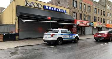 Site of shooting of two innocent bystanders in Crown Heights