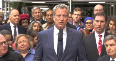 de Blasio response synagogue shooting