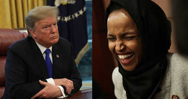 President Donald Trump and Rep. Ilhan Omar