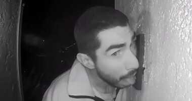 Salinas Police say Roberto Daniel Arroyo was caught licking a doorbell on surveillance camera.