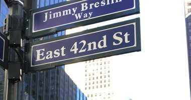 A stretch of 42nd Street has been renamed for iconic New York City journalist Jimmy Breslin.