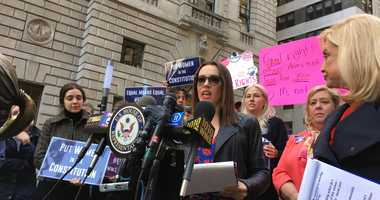 Alyssa Milano joins Rep. Carolyn Maloney in a push to ratify the Equal Rights Amendment.