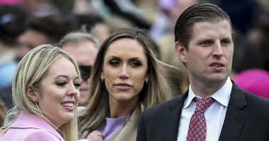 Tiffany Trump and Eric Trump attend the 140th Annual Easter Egg Roll on the South Lawn of the White House in Washington, D.C., on April 2, 2018.