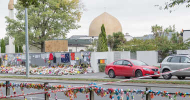 General view of Al Noor mosque prior to islamic prayers in Hagley Park near Al Noor mosque on March 22, 2019 in Christchurch, New Zealand