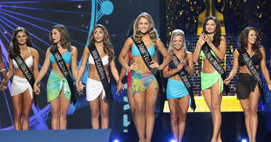 Miss Texas 2017 Margana Wood participates in Swimsuit challenge during the 2018 Miss America Competition