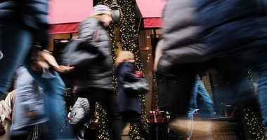 Christmas shopping in New York City.