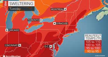 AccuWeather map for July 3, 2018.