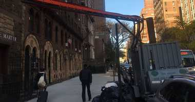 An exterior boiler hooked up to an Upper East Side building.
