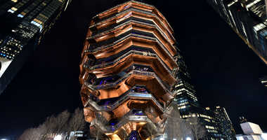 Sculpture designed by Thomas Heatherwick at the Hudson Yards Grand Opening event at the Hudson Yards in New York,