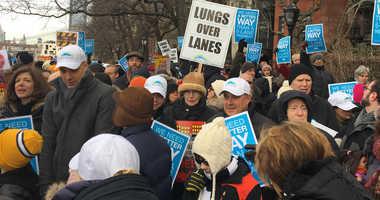 BQE Brooklyn Heights Promenade protest