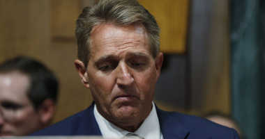 Sen. Jeff Flake, R-Ariz., listens during a meeting of the Senate Judiciary Committee, Friday, Aug. 28, 2018 on Capitol Hill in Washington.