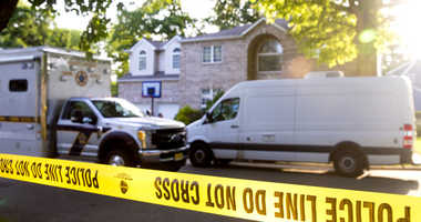 In this June 26, 2018 photo, Bergen County Prosecutors Office and Sheriff's Department investigate a body found in the home of Giants cornerback Janoris Jenkins in Fair Lawn, N.J. Authorities have identified the dead man as Roosevelt Rene, a family friend
