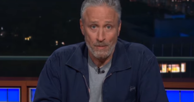 Jon Stewart on the Late Show
