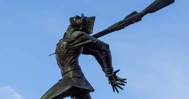A memorial to those killed at the Katyn Massacre.