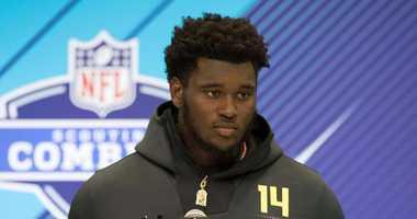 Kendrick Norton at the NFL Combine.