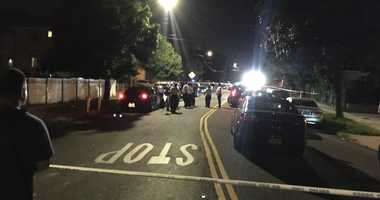 Site of police-involved shooting in Queens