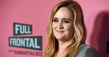 """FILE - In this May 24, 2018 file photo, Samantha Bee, host of """"Full Frontal with Samantha Bee,"""" poses at an Emmy For Your Consideration screening of the television talk show at the Writers Guild Theatre in Beverly Hills, Calif."""
