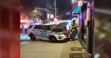 NYPD SUV crashes into Brooklyn building