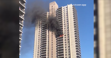 Hamilton Heights high-rise fire