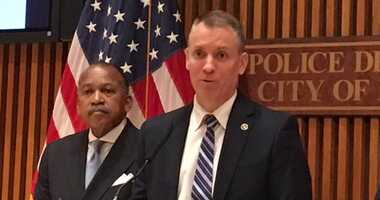 NYPD Chief of Detectives Dermot Shea at news conference on Frank Cali shooting.