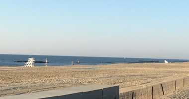 The beach in Belmar, New Jersey.