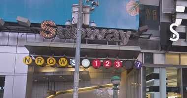 Times Square subway station.