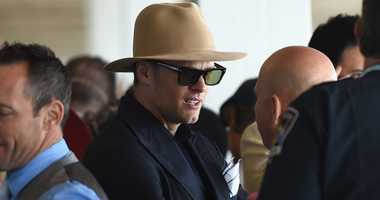 Tom Brady of the New England Patriots mingles at the Kentucky Derby in 2017.
