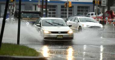 Rain flooding New Jersey