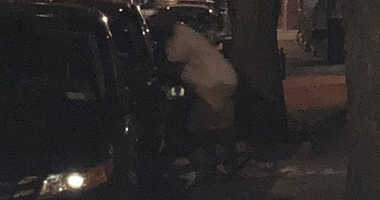 A doorman took this picture of a man allegedly trying to rape a woman on the Upper West Side.