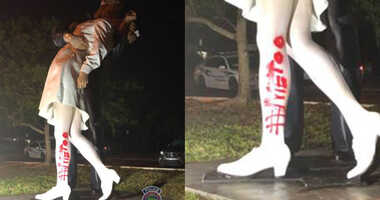 Unconditional Surrender vandalised