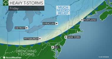 AccuWeather forecast for Friday July 6, 2018.