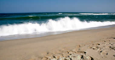 Rough surf along the Jersey shore.