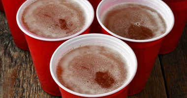 Red solo cups filled with beer.