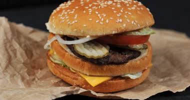 Fast food burger, file image.